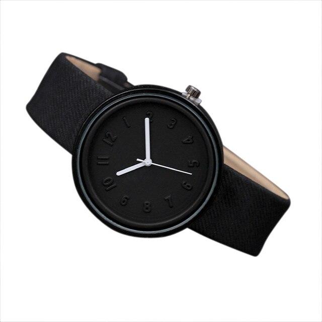 Candy color Fashion Numer simple watches women's quartz wristwatches women casua