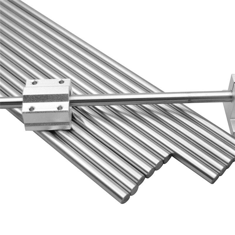 30-40cm 8mm Chromed smooth Rod steel linear rail shaft For CNC 3D printer Reprap