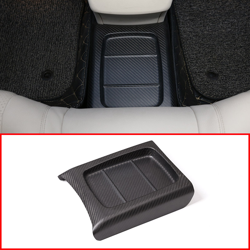 Real Carbon Fiber Car Interior Molding Rear Row Protection Cover Trim For Mercedes Benz E Class W213 2016-2018 Car Accessories car accessories carbon fiber rear row cup holder frame cover trim auto interior for alfa romeo stelvio car styling