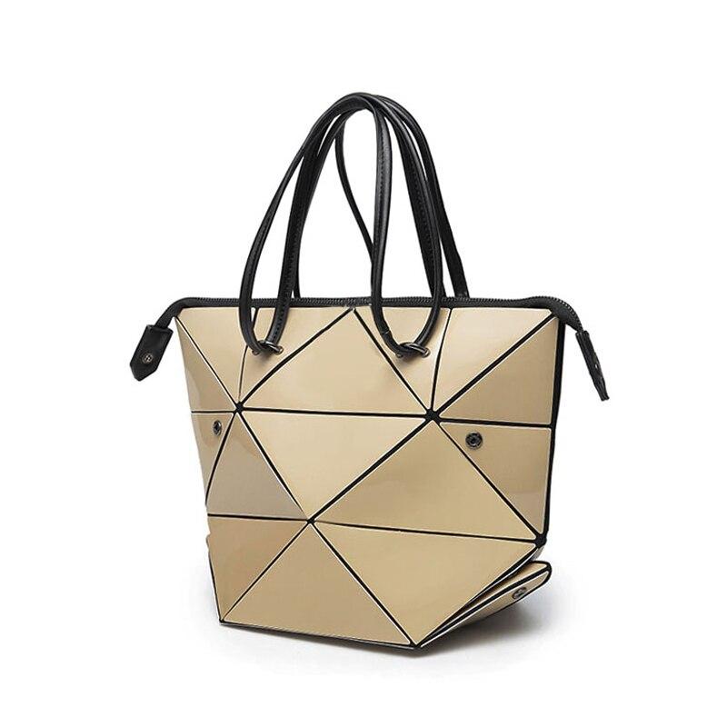 Women s Handbags Laser Korean Style Geometric Stitch Variety Bags Handbags Multifunctional Folding Shoulder Bags 662