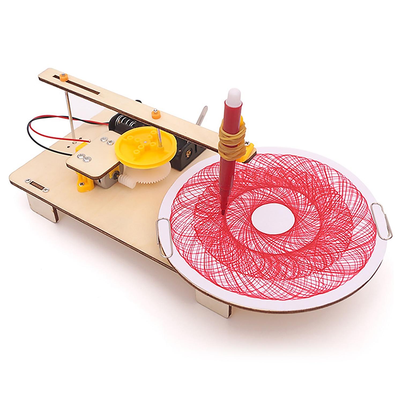 Дети творческий DIY Собранный деревянный Электрический плоттер Набор Модель Автоматическая Живопись Рисунок Робот Наука физика игрушки для экспериментов| |   | АлиЭкспресс - Небанальные подарки