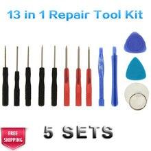X 5 компл. 13 в 1 мобильный телефон монтировку Открытие отвертки Repair Tool Kit разборки Инструменты для iphone 4 4S 5, 6 для Samsung S6