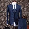 Pre-Sale 30% Шерсть одежда мужчины формальный свадебное платье костюм устанавливает пальто + жилет + брюки/брюки твердые slim fit смокинг ужин костюм