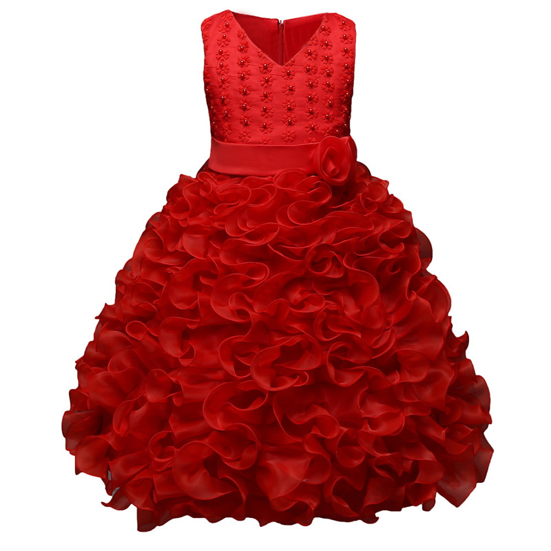 New Formal Kids Dress For Girls 2017 Princess Wedding Party Dress Girl Clothes 3-10 Years Dress Bridesmaid Children Clothing