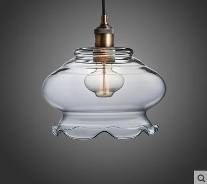 24CM Handing Lamp Vintage Industrial Lighting Pendant Lights with Glass Lampshade Retor Loft Style,Lamparas Colgante De Techo nordic america vintage industrial pendant light with 3 lights in style loft magic glass lampshade lamparas hanglamp