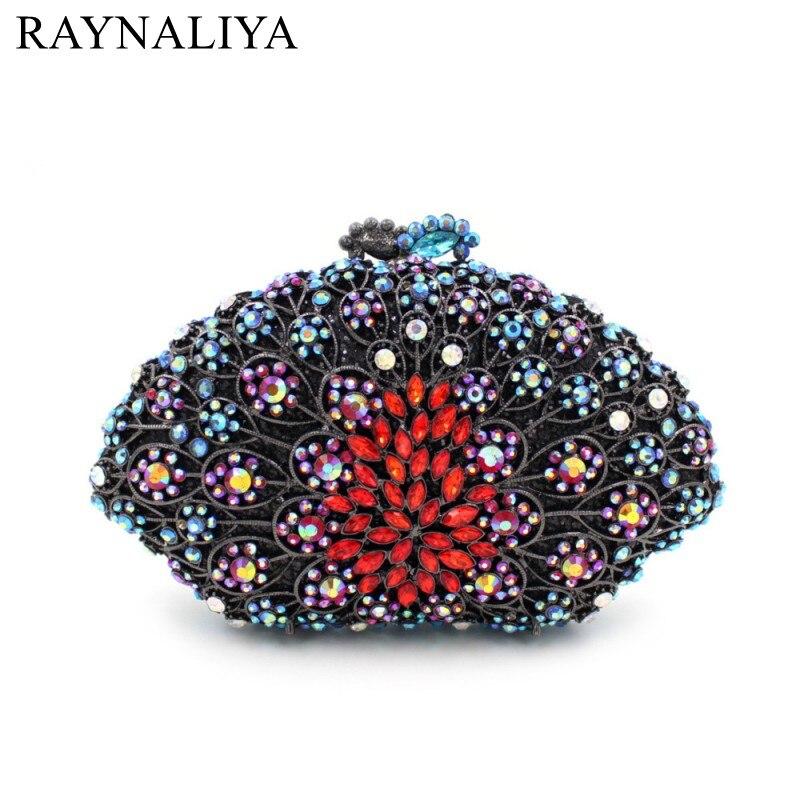 2017 Real Glitter Clutch Bag Design Bridesmaids Rhinestone Evening Women With Chain Crystal Purse For Weddings Smyzh-e0323 цена 2017