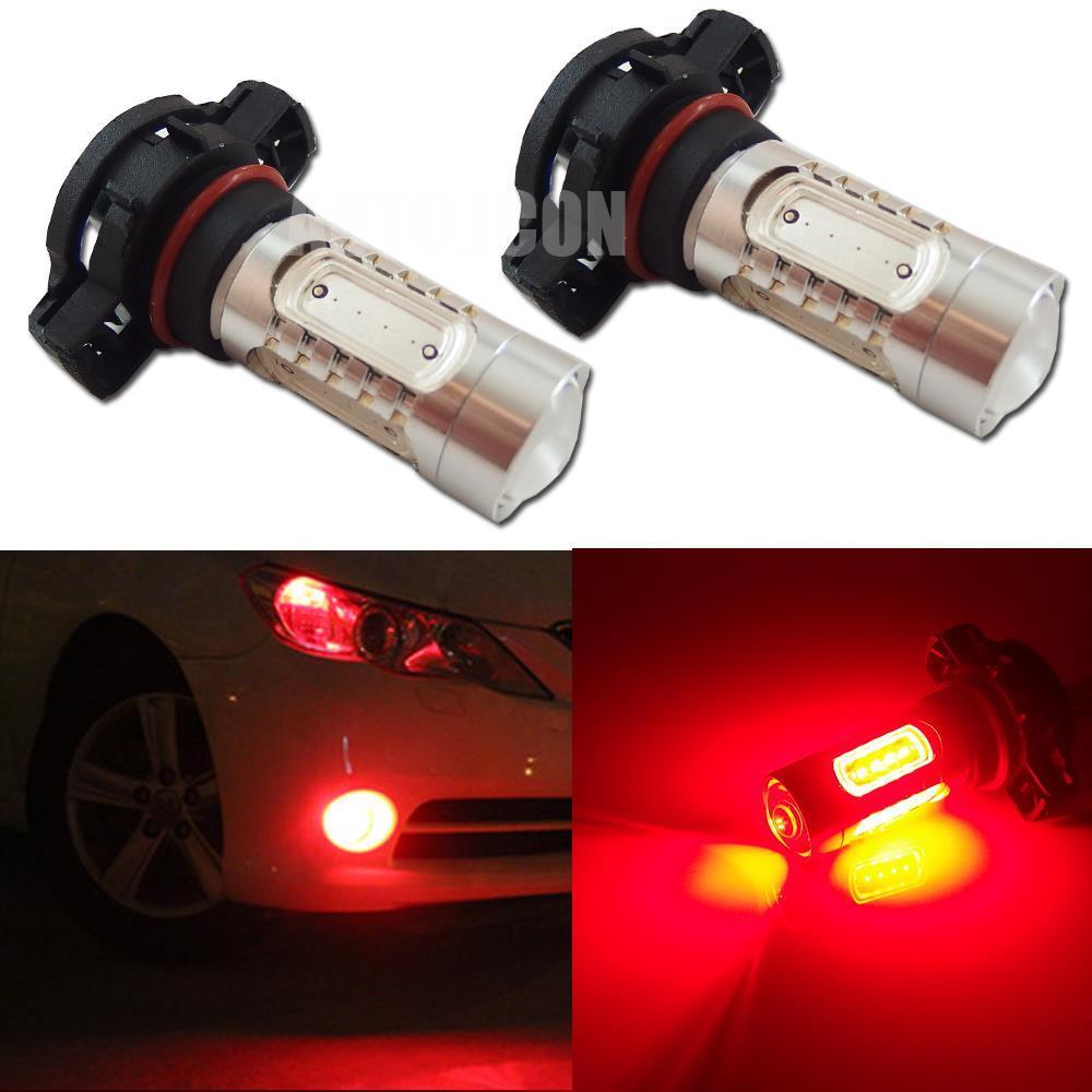 CYAN SOIL BAY 2pcs High Power Red 7.5W H16 5202 COB LED Bulbs For Car Fog DRL Driving Lights