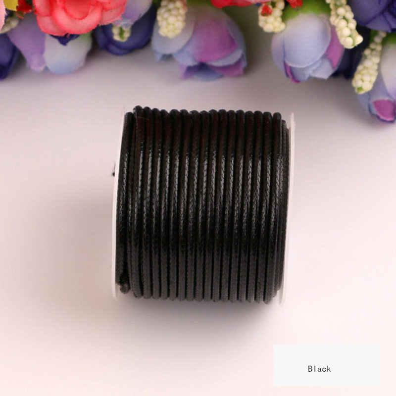 10 metros/unidad 1MM 2MM diámetro redondez hilo encerado cuerda DIY joyería collares pulsera cuerda decorativa