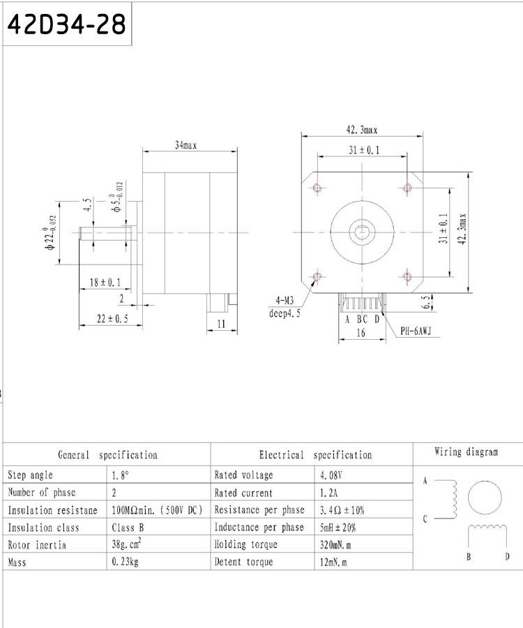 HTB1ysw3JpXXXXXaaXXXq6xXFXXXW - DC 12V 24V 36V 1.2A 400mN.m motor for CNC XYZ CE certification 4-lead Nema17 Stepper Motor Nema 17 motor arduino stepper motor