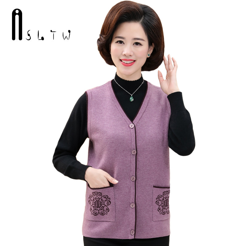 ASLTW Female Cardigan 2017 New Casual Sleeveless Knitting Sweater Vest V Neck Single Breasted Women Sweater Outwear Vest Coat