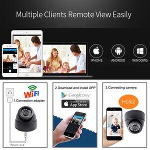 Image 3 - JIENUO cámara Ip Wifi 1080P 960P 720P HD Cctv, vídeo de vigilancia, seguridad, Audio inalámbrico, IPCam interior, cámara de domo infrarrojo para el hogar