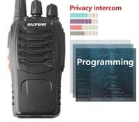 "2pcs baofeng bf 888s 2pcs Baofeng-888s BF Portable 888s BF מכשיר הקשר 16CH שני הדרך רדיו UHF 400-470MHz 2 יח ציד מקמ""ש עם אוזניות (4)"