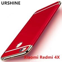 URSHINE Phone Case for Global Version Original Xiaomi Redmi 4X 4 X 3GB 32GB Cover Gold Ultra Thin Full Protector Case Shell Capa