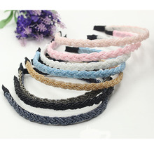 Beaded non-slip twist headband New hair accessories headwear wholesale womens band