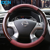 Car Steering Wheel Cover Accessories Auto Upholstery Supplies 38cm Size For Land Cruiser LC200 FJ200 FJ150