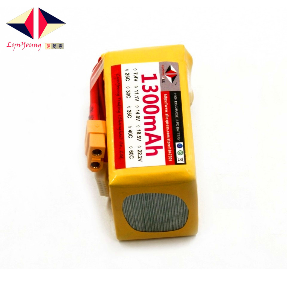 LYNYOUNG RC car <font><b>lipo</b></font> battery <font><b>6s</b></font> 22.2V <font><b>1300mAh</b></font> 35C max 70C for Boat Quadcopter Airplane helicopter image