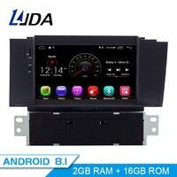 LJDA 1 Din 7 Inch Android 8.1 Car DVD Player For Citroen C4 C4L DS4 Wifi GPS Radio 2G RAM GPS Navigation Radio WIFI Multimedia