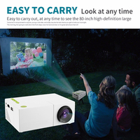 UK Standard Mobile Portable LCD Projector Built in Speaker Home Theater Movie Mini Projector Home Cinema System DLP HDMI Video