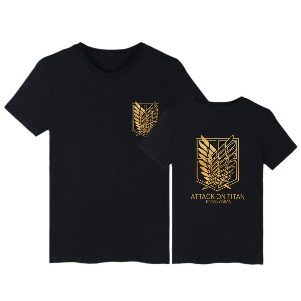 3ca8498e997b Attack on Titan Shingeki no Kyojin t shirt men women Survey Corps Logo  Clothes tops Anime Cosplay Costumes cotton tshirt XXS-4XL