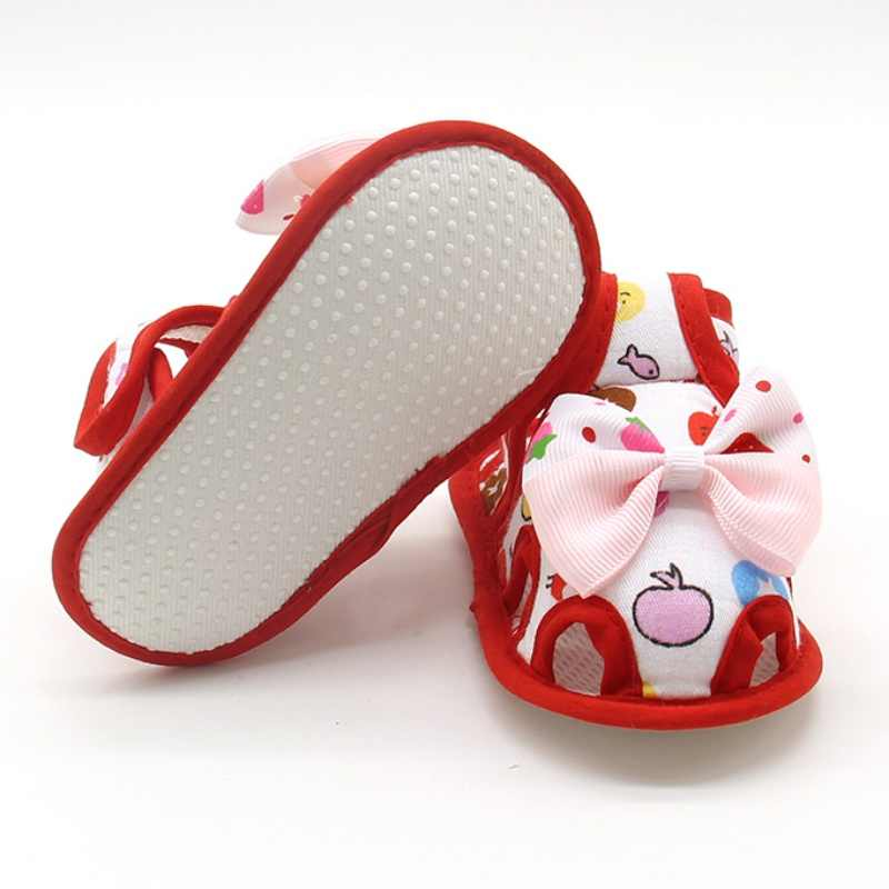 الصيف طفل لطيف القوس أحذية أطفال طفل الفتيات الصنادل الأحذية زلق برهان الصغار