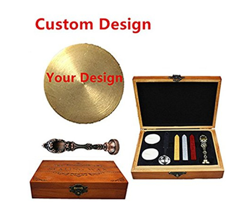 Bronze Customized Picture Logo Monogram Letters Personalized Your design Wax Seal Sealing Stamp Wedding Invitation Metal Wa custom coil notebook spiral notepad personalized customized picture photo logo
