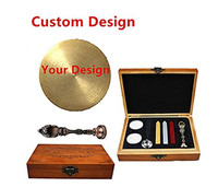 Bronze Customized Picture Logo Monogram Letters Personalized Your design Wax Seal Sealing Stamp Wedding Invitation Metal Wa