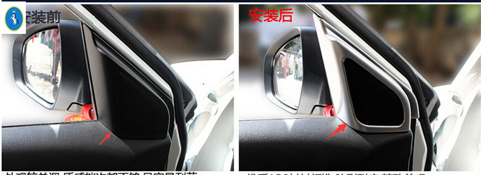 Accessories 2 pcs For Suzuki Vitara 2015 2016 Pillar A Decoration Cover Trim Frame Modling Garnish