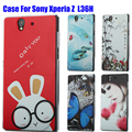 High Quality Phone Case For Sony Xperia L36H Cover Cartoon UV Print Hard Cover Case For Sony Xperia Z L36h C6603 C6002 Case