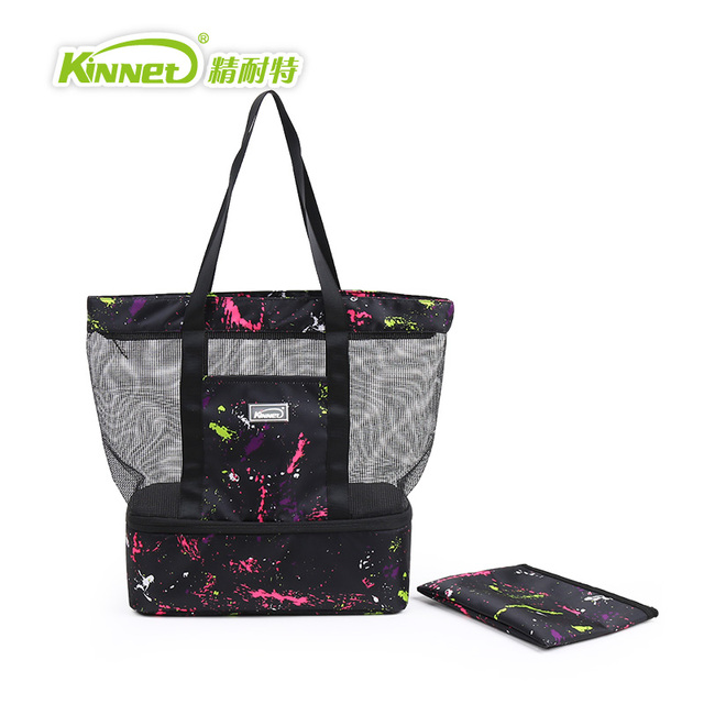 KinNet Lunch bag Multifunctional Double Layers Insulated Leisure bag aluminium foil Shoulder Cooler Bag Pouch For Food Ice Bag