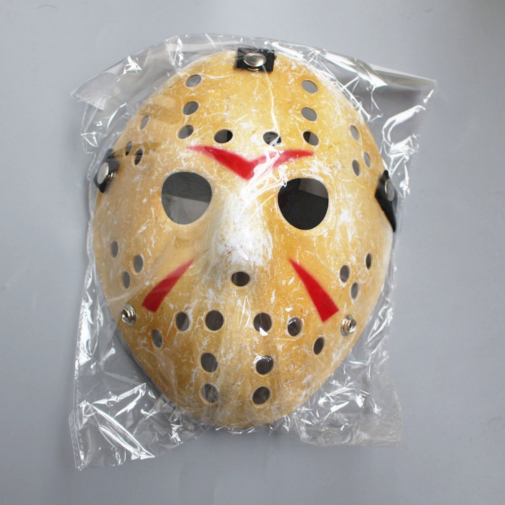 100pcs lot Black Friday Jason Voorhees Freddy hockey Festival Party Full Face Mask With Holes 100gram