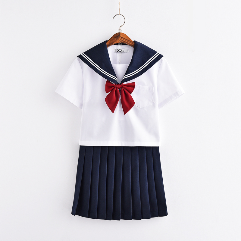 Svitania Short Sleeve Japaness School JK Uniform Sailor Suit High School College Suit Female Students Uniforms