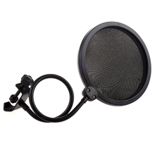 Studio miniphone Mic Wind Screen Filter Mask Shied ps 2 double layer studio microphone mic wind screen pop filter swivel mount mask shied for speaking recording stand