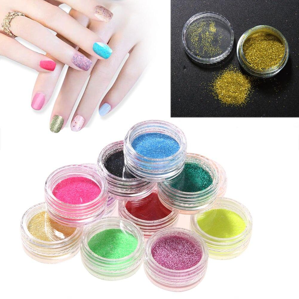 Mix Farben Nail art Glitter Pailletten DIY Fingernagel Malerei ...