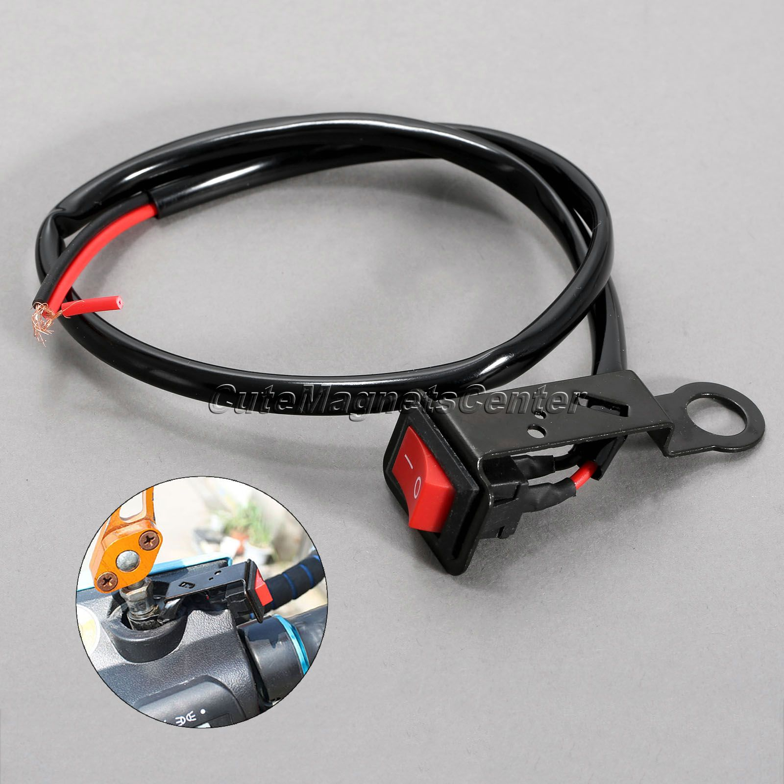 Motorcycle Switch ON/OFF Button Power Control ATV Moto Handle Switch Electric Bike Handlebar Switch Accident Hazard Light Switch ...