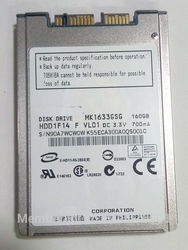 NEW 160GB HDD 1.8 MicroSATA MK1633GSG FOR HP 2740p 2730p 2530p 2540p hdd IBM x300 x301 T400S T410S hard disk REPLACE MK1229GSG