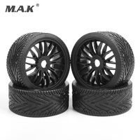 4 pcs wheel tires tyre&rim set 17mm Hex flat off road tires rims fit for 1/8 HPI HSP traxxas buggy RC car parts accessory