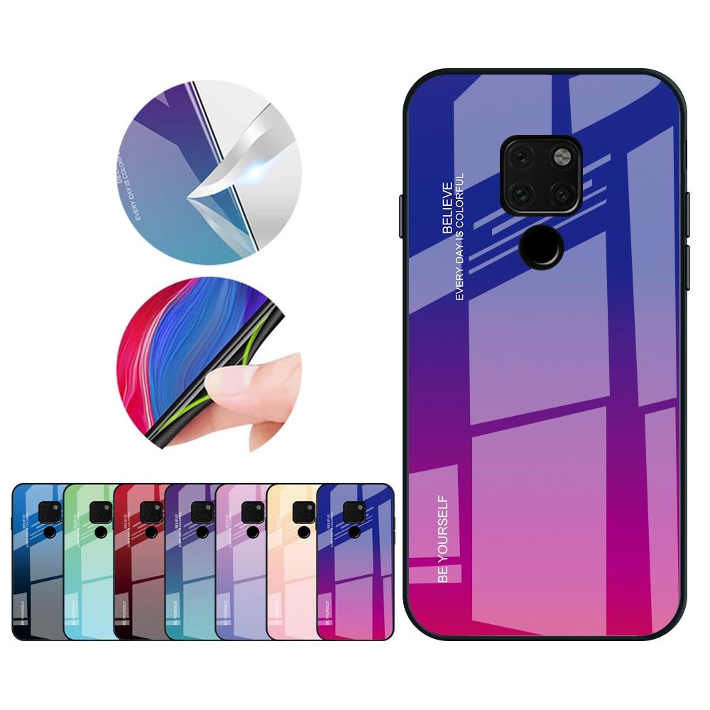 Gradient Farbe Gehärtetem Glas Schutzhülle Für Huawei Mate 20 P20 Pro Mate 10 Lite P Smart Plus Nova 3 Für Honor 8x Max Fall Angenehm Bis Zum Gaumen