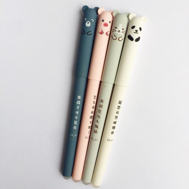 Animali del fumetto Penna Cancellabile 0.35 millimetri Cute Panda Gatto Magico Penne Kawaii Gel Penne Per La Scuola di Scrittura Cancelleria Della Novità Delle Ragazze regali 5