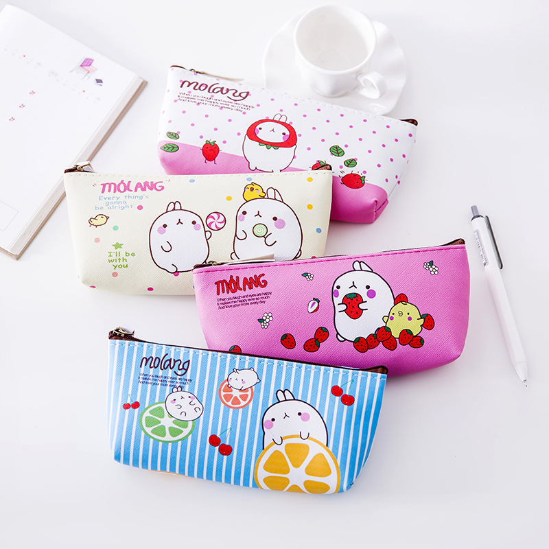 Cartoon Small Rabbit PU Leather Coin Purses Women's Small Change Money Bags Pocket Wallets Key Holder Case Mini Pouch Zipper my neighbor totoro draw string coin purses cartoon face mini pocket bags