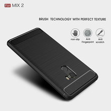 xiaomi mix 2 case Carbon Fiber TPU Brushed Protector Back Cover xiaomi mix2 protective case Anti-Skid free shipping