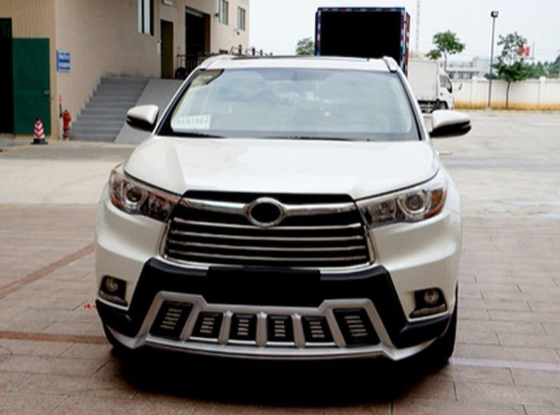 Silver Front Rear Bumper Protector Guard Cover For Toyota Highlander