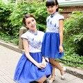 Meninas vestido de verão roupas roupas daughte matching mãe mamãe e me roupas família olhar família