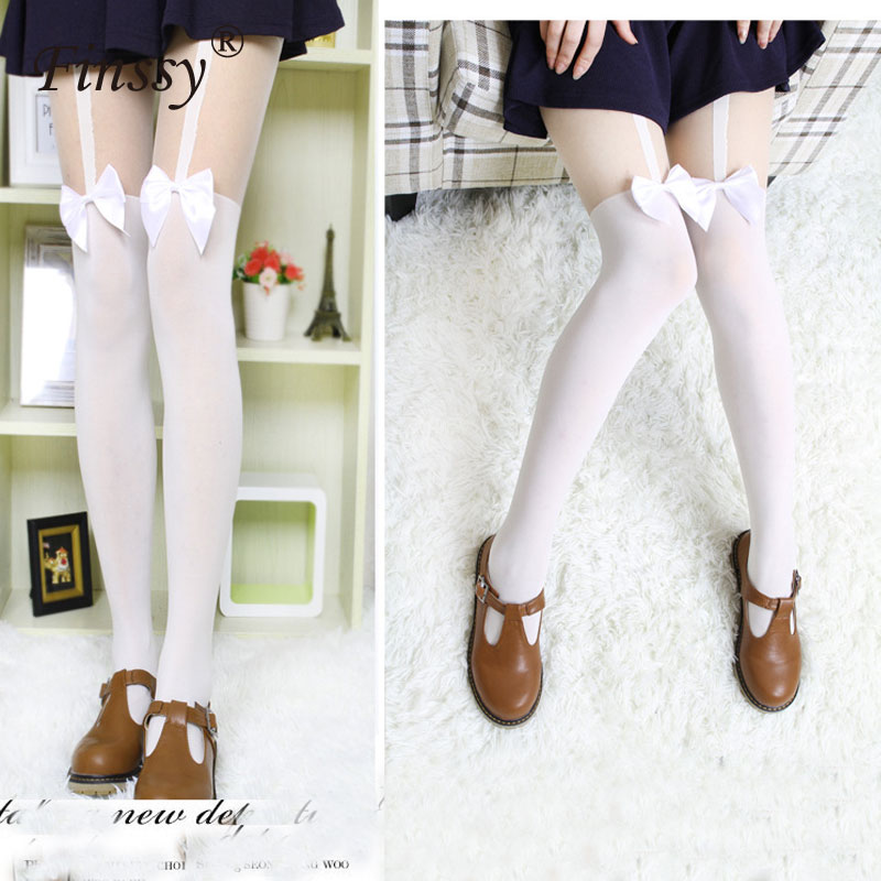 Japanese Lolita Style School Uniform Stocking Women's Over-knee sock Cosplay Stockings Lolita Cosplay Socks