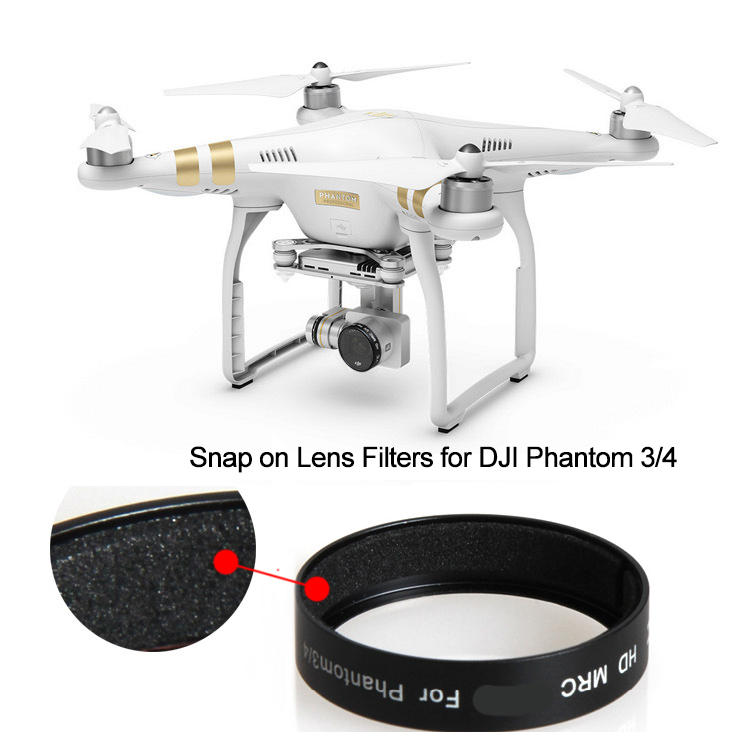 Snap on Lens Filter CPL Polarizing UV ND4 ND8 ND16 ND2-400 Filter for DJI Phantom 3 3S SE 3A 3P Phantom 4 Drone Camera lens filter for dji osmo x3 inspire1 professional advanced gimbal camera nd2 400 nd4 nd8 nd16 cpl mc uv drone parts accessories