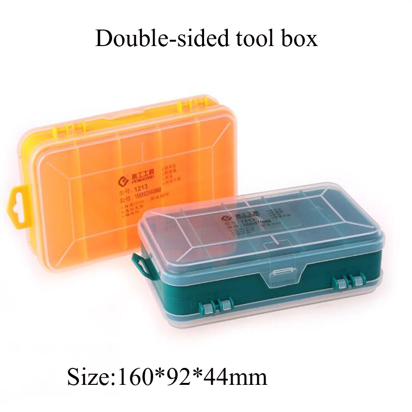 Multifunction Double-Side Plastic Tool Box Portable Jewelry Container Ring Electronic Parts Screw Beads Component Storage Box