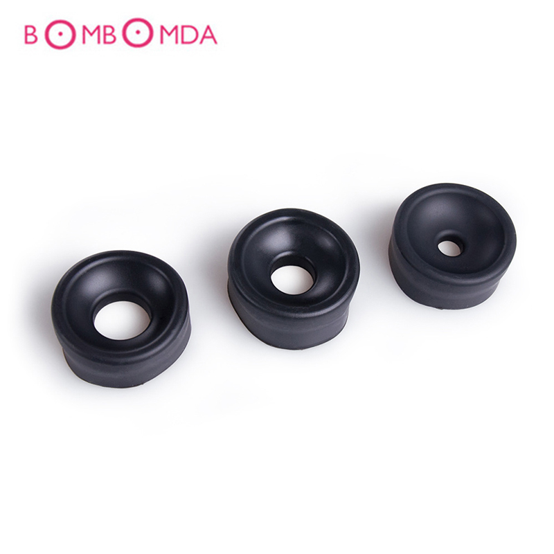 Male Penis Pump Ring Silicone Sleeve Penis Extender Trainer Accessories Penis Erection Enlarger Exerciser Adult Sex Toys For Men