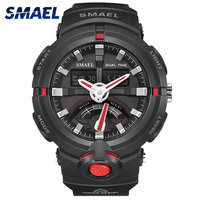 2017 Hot Cheap Smart Watches With LED SMAELBrand Dive Dual Display Time Automatic Date Digital Silicone