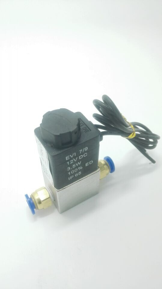 Free shipping Normally closed Solenoid valve 2V025-06 12V DC 1/8  with two fittings mounted, high qulity for water air gas