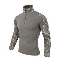 Quick Dry Traspirante Uomini Tshirt Caldo Camuffamento Tattico Militare Maglietta per Gli Uomini Moda Primavera Autunno A Maniche Lunghe Tops Abbigliamento