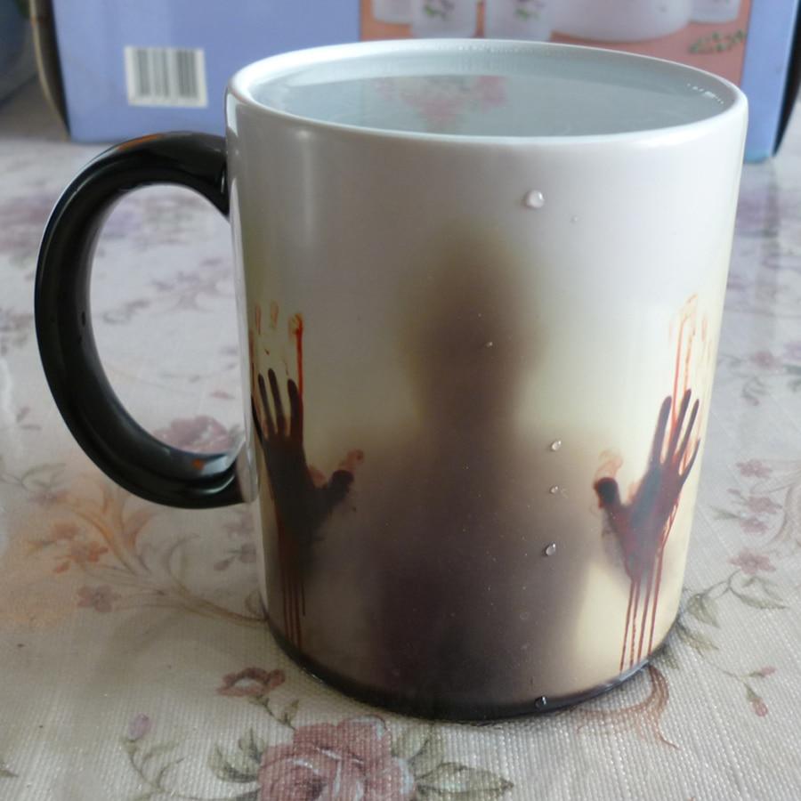 Капка shippng ходене мъртъв чаша топлина чувствителни морф чаши трансформиране на чаша студена гореща топлина промяна цвят магия чаша чай чаши  t